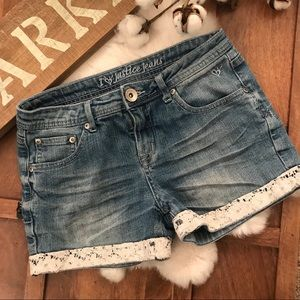 Justice Jean Shorts with lace